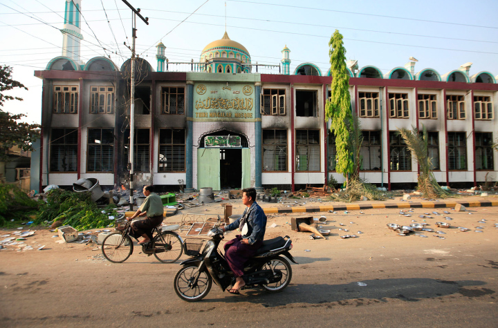Mosques were targeted during the riot in Meikhtila.