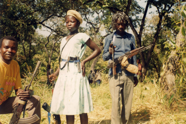 Joseph Kony with wife